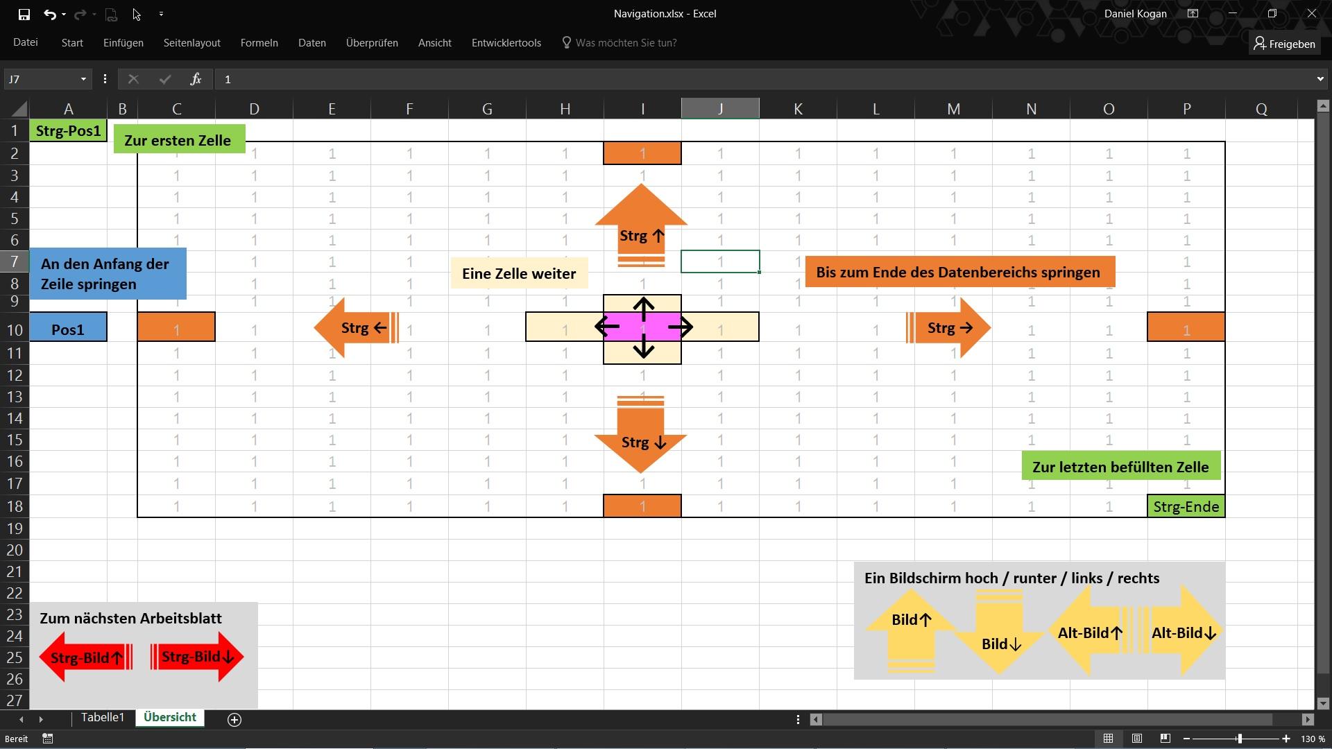 Excel Navigation