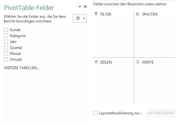 PivotTable Felder2