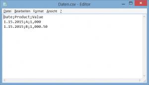 CSV-Daten