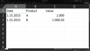 CSV in Excel geöffnet gelöst
